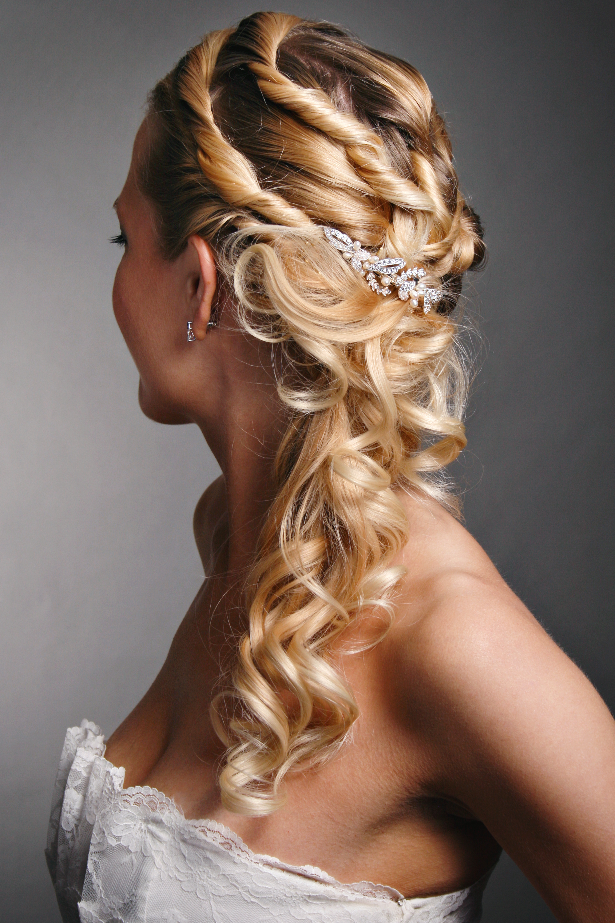wedding hairstyles side ponytail | wedding's style