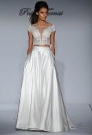 crop top gown